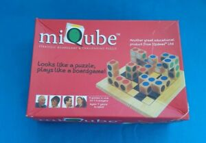 MIQUBE : SURROUND, CAPTURE, CONQUER ~ Wooden Puzzle Logic Game : IQ Ideas Games
