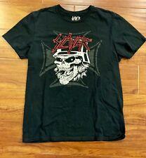 Vintage Slayer Metal Concert Official Merch T Shirt Black Skull Med - Fits Sm/XS