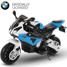 Moto Elettrica per Bambini BMW S1000 RR BLU 12V con Chiave Accensione Ruote EVA