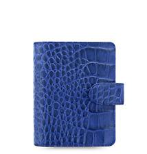 Filofax Classic Croc Pocket Size Organizer/Planner Indigo Leather - 026006