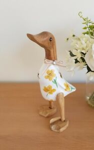 Hand decorated bamboo root duckling/ Bees & Buttercup/Home/Garden/painted duck