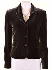 MAX MARA Womens Velvet Blazer Jacket UK 14 Large Brown  NB14