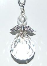 Very Large 3 Inch  Hanging Guardian Crystal Angel Suncatcher Feng Sui Xmas Tree