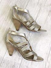 Belle Sigerson Morrison Women's Shoes sz 7 B Metallic open toe Heels