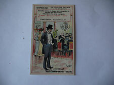 CHROMO PUBLICITAIRE CHOCOLAT GUERIN-BOUTRON N°199 GRAPHOLOGIE
