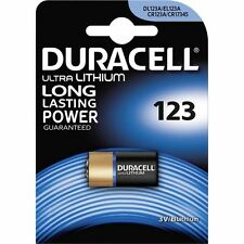 5 PILE BATTERIE DURACELL 123 DL123A CR123A CR17345 3V LITIO LITHIUM