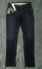 NOUVEAU! W29 L33.5 NINE IN le matin sur mesure bleu Tapered Jeans skinny Straight