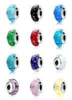 2018 NEW Design Authentic 925 Silver Murano Glass Beads Charm fit European Chain