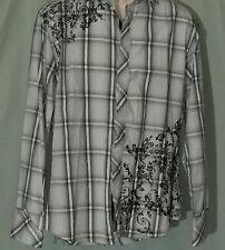 English Laundry Size M Christopher Wicks Embroidered 100% Cotton Button Up