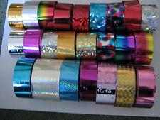 9 X 30cm Multi Color Diseño Papel De Envolver-Nail Art - 1 - (consejos,, Gel, Acrílico)