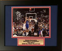 Mario Chalmers Autographed Kansas Jayhawks THE SHOT 2008 Framed 8x10 Photo JSA