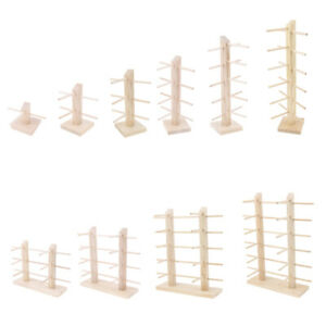 Wood Sunglasses Eyeglass Rack Display Stand Holder