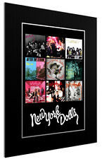 MOUNTED / FRAMED PRINT NEW YORK DOLLS DISCOGRAPHY - 3 SIZES POSTER GIFT ARTWORK