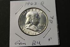 1963-D Franklin Half Dollar Gem BU - Lustrous! Lot 1