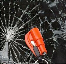 Comforly 3 in 1 Car Life Keychain Key Belt Cutter Escape Hammer Glass Breaker