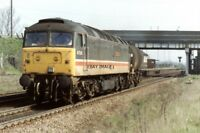 PHOTO  CLASS 47 LOCO NO 47550 AT BROCKLESBY JUNCTION 1993