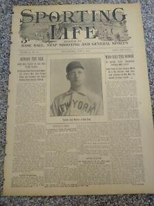 June 2, 1900 Sporting Life Baseball Catcher John Warner New York