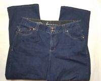 lane bryant womens jeans size 18 blue denim stretchy pants straight leg