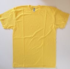 American Apparel Men's Crew Neck T-Shirt Yellow Size L
