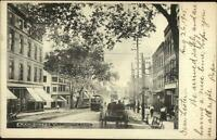 Willimantic CT Main St. Trolley Horse Wagon 1905 Used Postcard