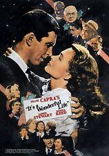 Es ist ein wunderbares Leben Film Foto drucken Poster Film Kunst JAMES STEWART Classic 02