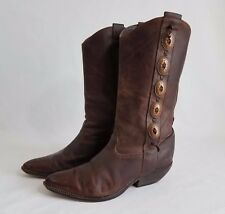 Women's Size 8.5 M Zodiac USA Brown Studded Leather Boots