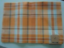Lot of 5 Create Decorate 13x19 Placemats Fall Colors Maribo Plaid NEW Autumn