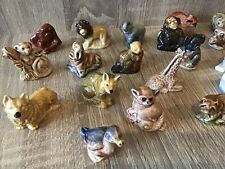 More details for lot of small ceramic animal figures including wade whimsies