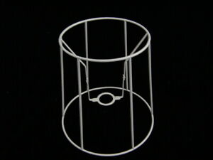 """TALL TAPERED DRUM WIRE LAMPSHADE FRAME  8"""" BASE"""