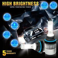 9004 HB1 3-Side LED Headlight Kit Hi/Lo Beam 1950W 292500LM Car Bulb 6000K White