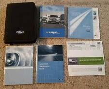 2009 Ford E-Series User Guide Owner's Manual with case OEM