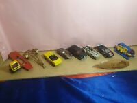 COLLECTABLE VINTAGE MATCHBOX  Hotwheels & other cars etc X 10 - USED