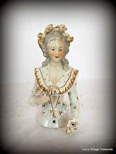 Antique Pincushion Doll, Half Doll, Germany, Porcelain Miniature Doll, Figurine