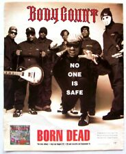 BODY COUNT 1994 POSTER ADVERT BORN DEAD