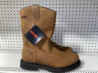 "Wolverine Wellington Ingham Mens Leather 10"" Soft Toe Work Boots Size 13 M Brown"
