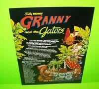 Bally GRANNY And The GATORS Original NOS 1983 Flipper Game Pinball Machine Flyer