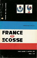 FRANCE v SCOTLAND 7 Jan 1961 at Paris RUGBY PROGRAMME