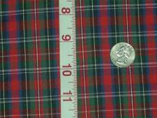 Tartan plaid fabric cotton blend check fabric lt weight material 45x By The Yard