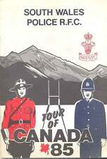 SOUTH WALES POLICE TOUR OF CANADA 1985 RUGBY BOOKLET
