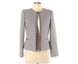 Tahari By Arthur Levine Womens Size 6 Pink And Black Tweed Blazer Workwear
