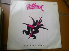 "12"" MIX MAXI SINGLE 45 FATBACK ALL NITE PARTY COVER EX VINYL EX++"
