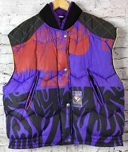 Luhta Men's Vintage 90's Purple Ski Snow Purple Vest Jacket Size L Finland