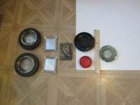 Vintage Lot of 8 ashtrays 4 Advertising/Tire/Metal/Glass AshTrays
