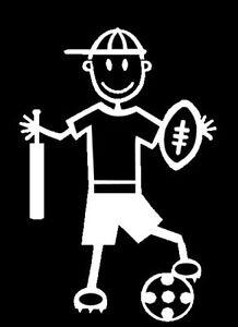 MY STICK FIGURE FAMILY Car Window Stickers Boy B2 - All Sports