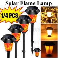 48LED Outdoor Solar Torch Dance Flickering Flame Light Garden Waterproof   -