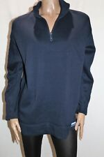 Rockmans Brand Women's Navy Sweat Zip Track Top Size L BNWT #SU40