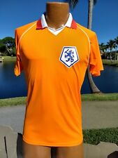 HOLLAND NATIONAL FUTBOL TEAM FOOTBALL SOCCER JERSEY Mens S POLY ORANGE ORANJE