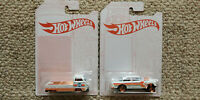 Hot Wheels 52nd Anniversary Pearl and Chrome Series Set of 2 Cars 2020 Chevy T2