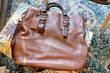 Prada grain leather tote bag brown