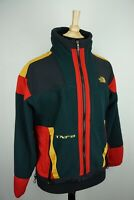 The North Face TNFX Vintage Fleece Green Red Yellow Colorblock Jacket M Made USA